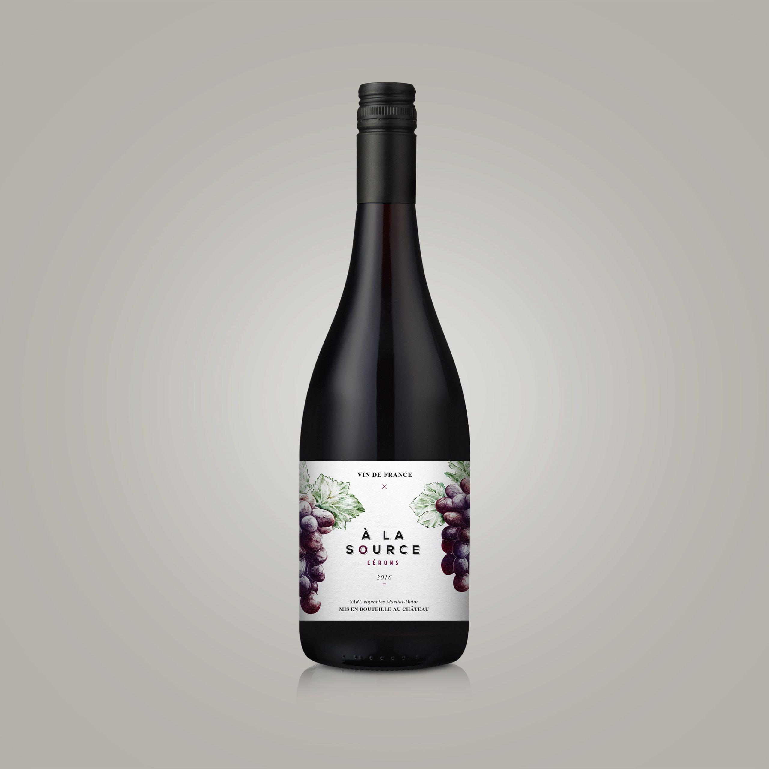 Chateau Peyrat Packaging Etiquette Bouteille vin