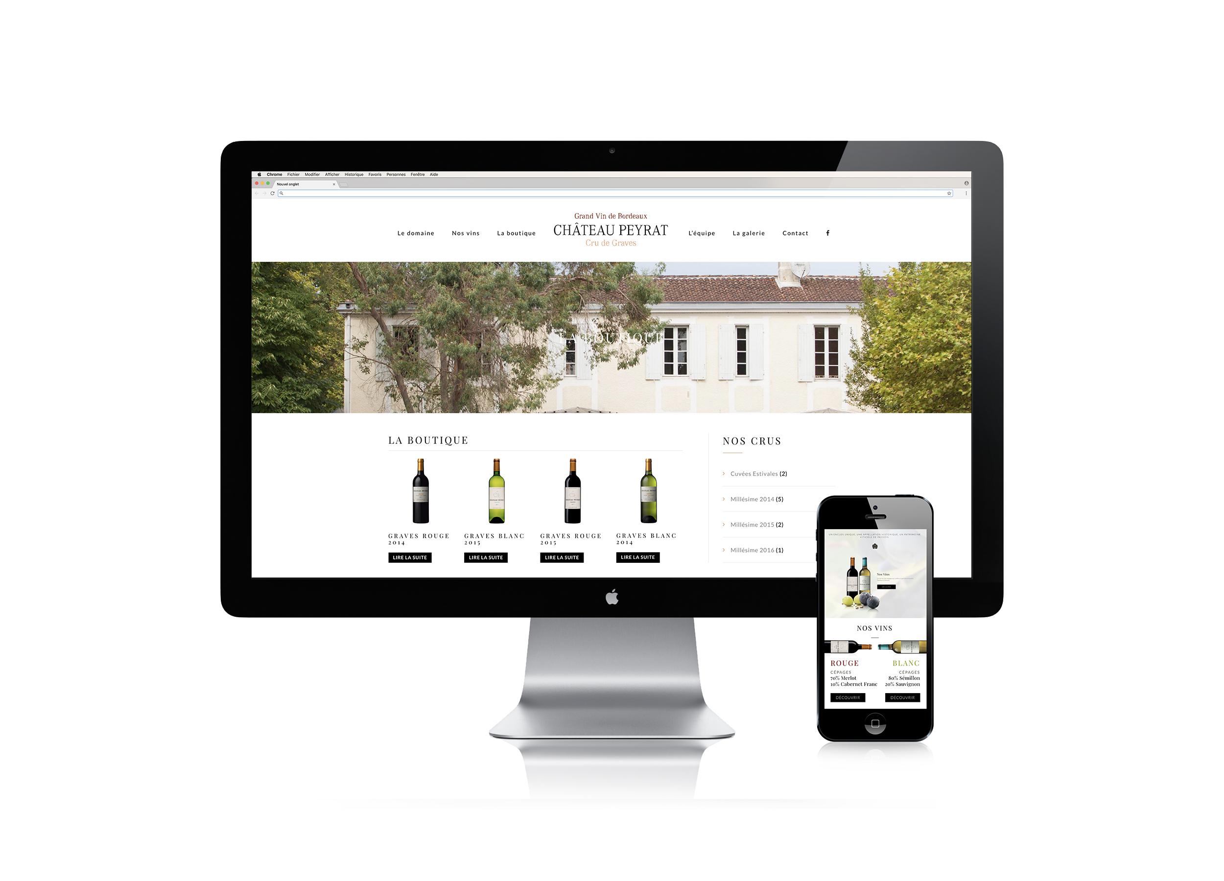 Chateau Peyrat Site web