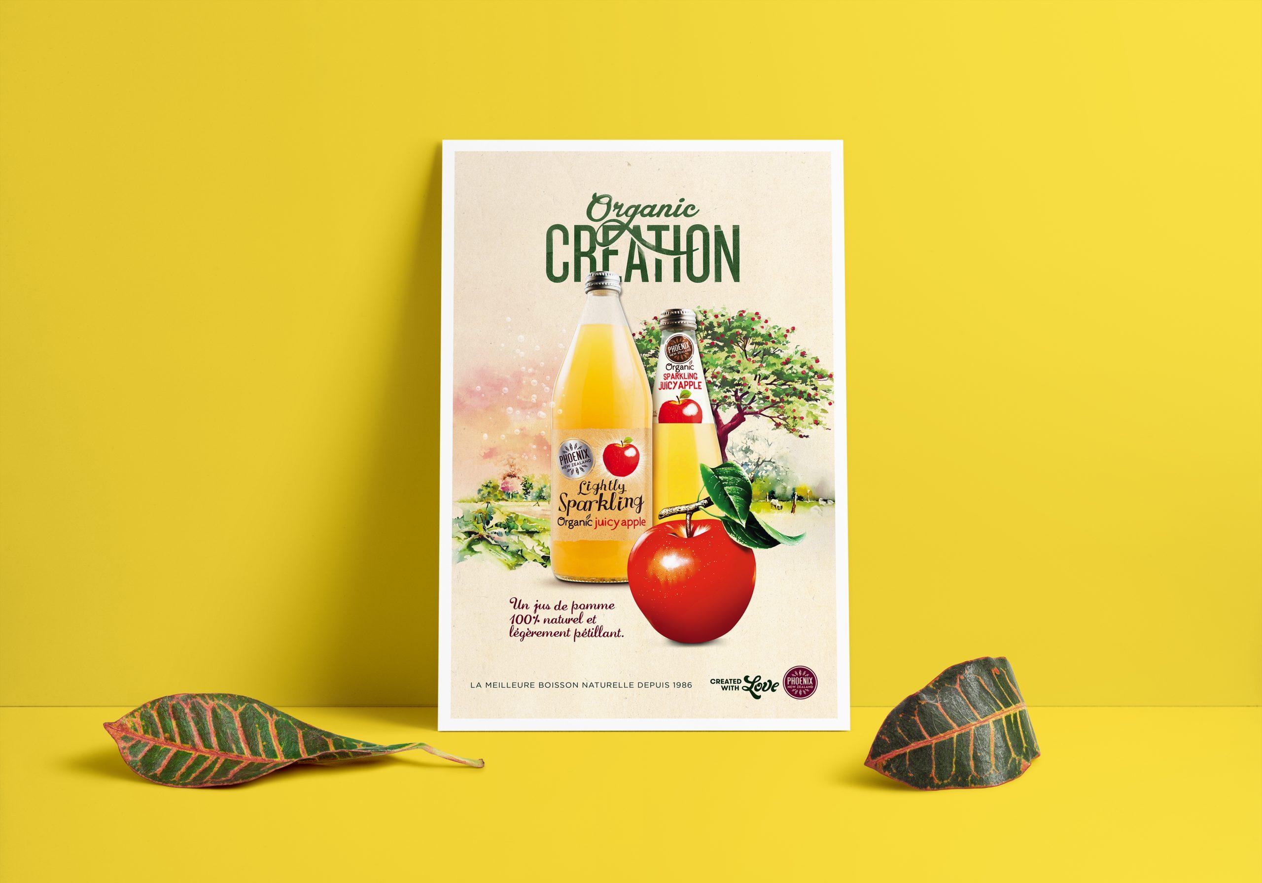 Phoenix Organic Boisson Bio Publicite Affiche 02