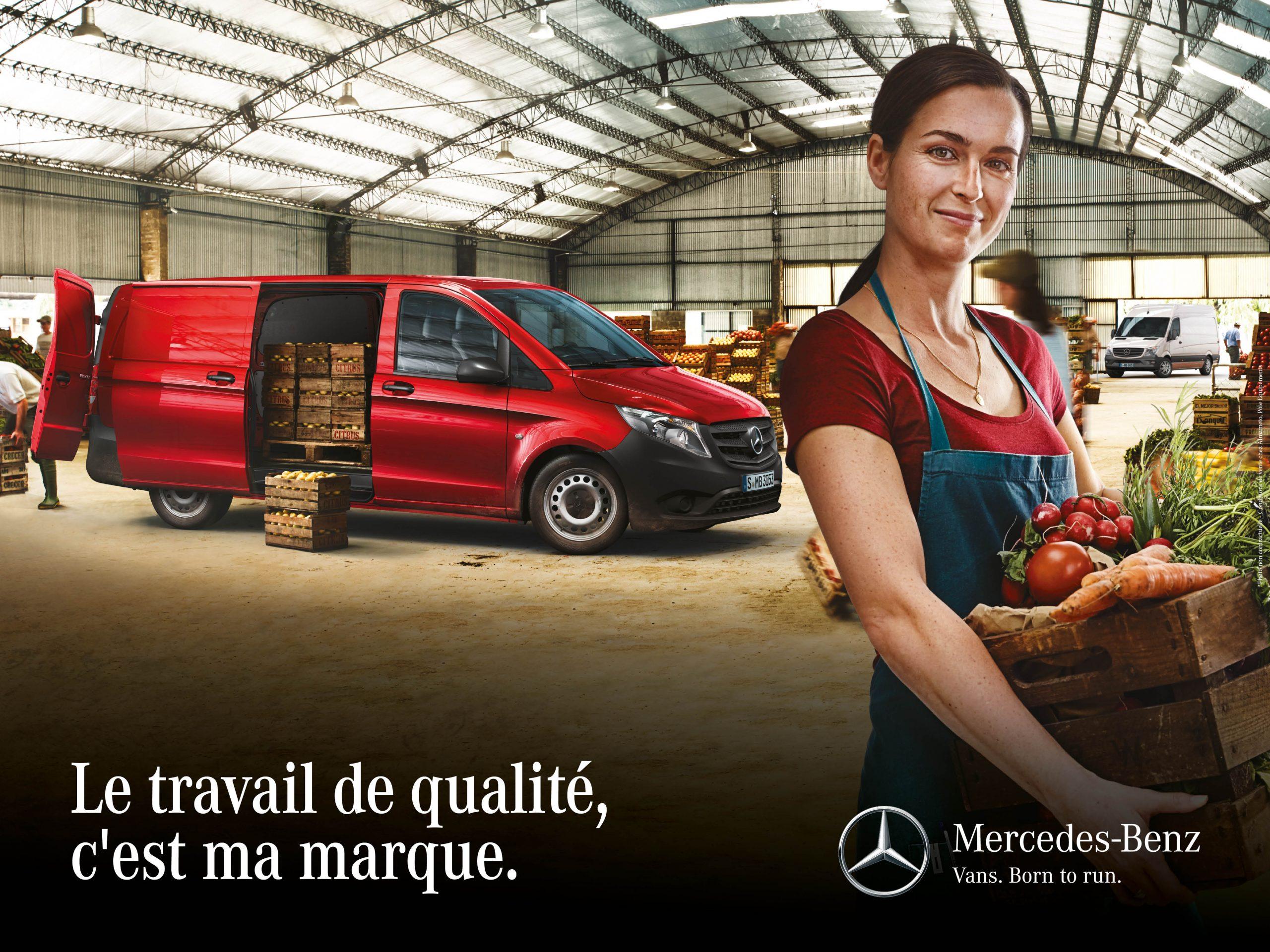 Mercedes Vito Utilitaire Publicite